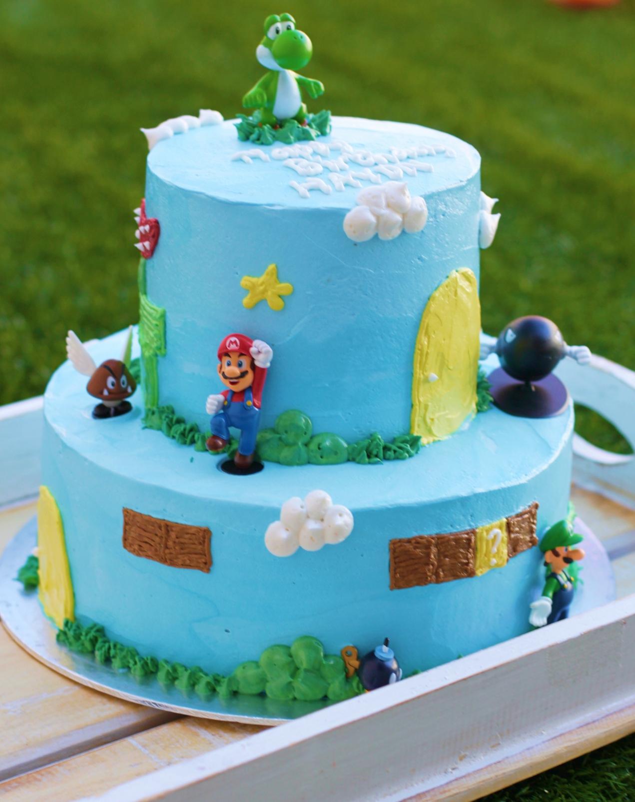 Two Tier Mario Bros Cake Rollpublic