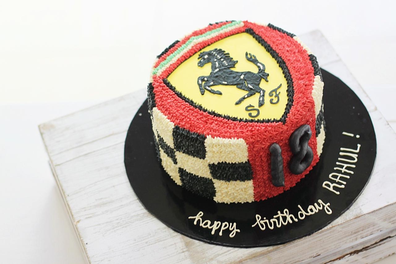 Pleasant Ferrari Cake Rollpublic Funny Birthday Cards Online Ioscodamsfinfo